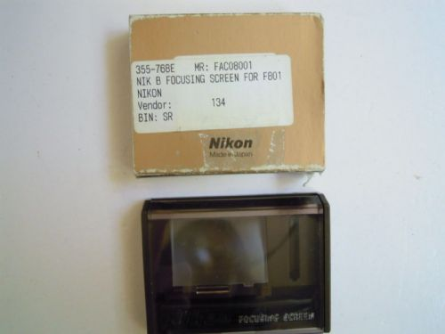 NIKON B FOCUSING SCREEN FOR F801